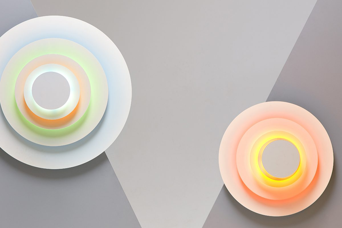 The hypnotic effect of Concentric, the lamp by Rob Zinn for Marset