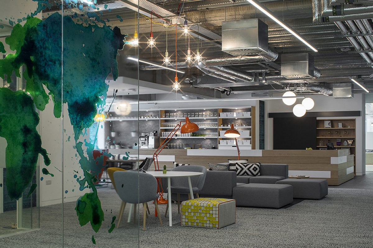 Viccarbe furnished the Hostelworld Offices Dublin, designed by Henry J. Lyons Architects