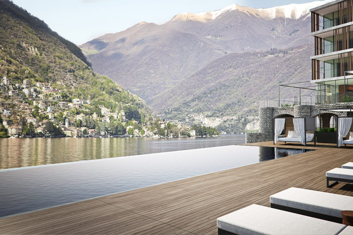 Il Sereno, the new hotel designed by Patricia Urquiola will open this summer in Como Lake