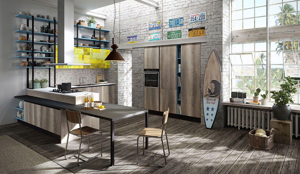 Aran Cucine presents Mia, its young and attractive kitchen line ...