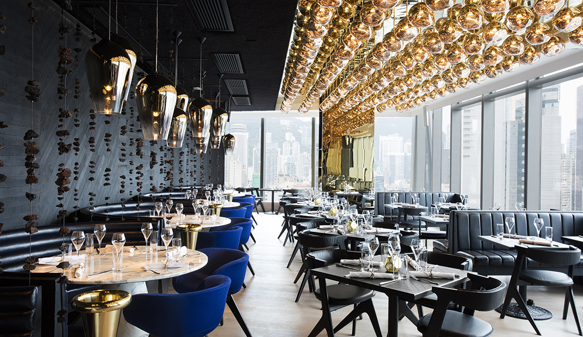 Tom Dixon Talent At The Alto Restaurant Interiors In Hong