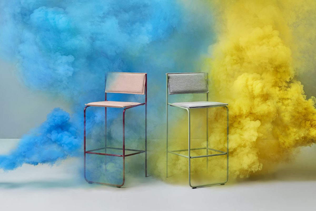 Missana expands Trampolín collection by Cuatro Cuatros with a timeless and comfortable bar stool