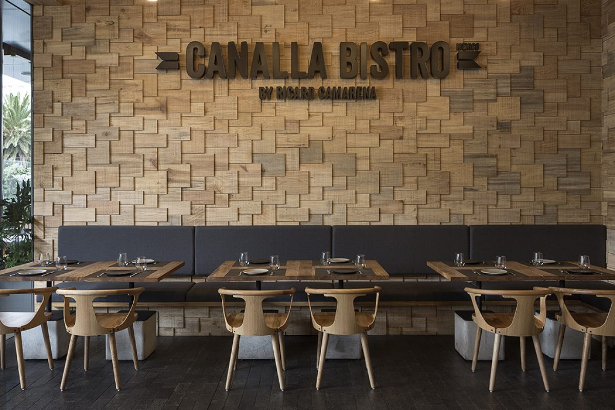 Canalla Bistro by Ricard Camarena arrives in Mexico with a design by Francesc Rifé