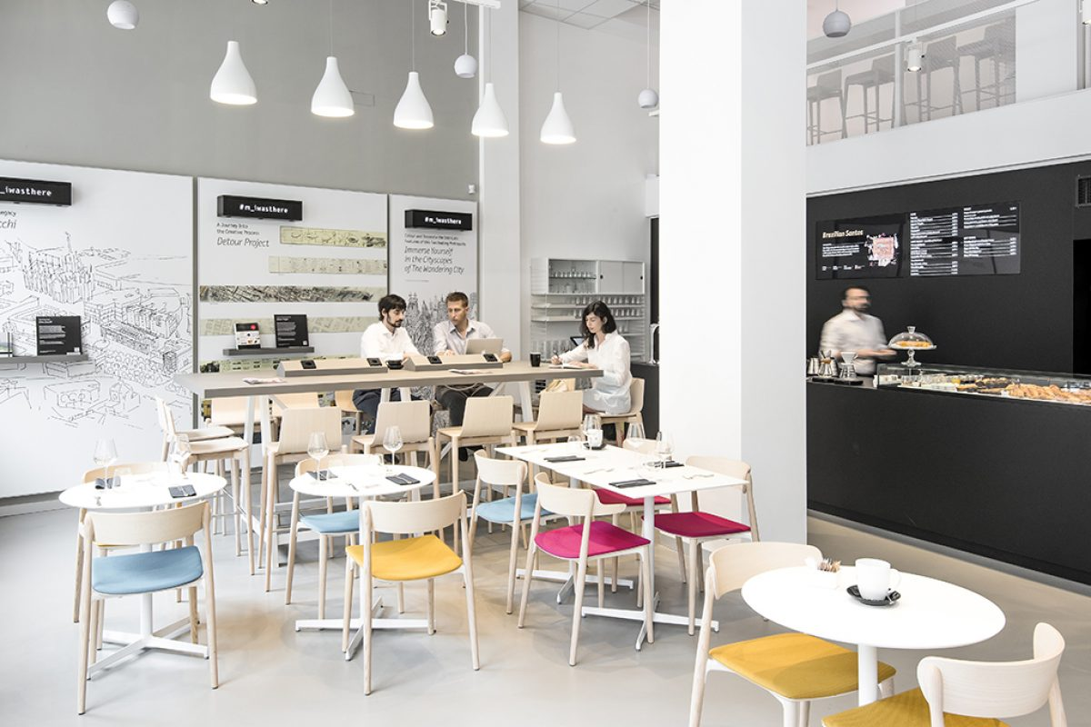 Case Studies: Contract project by Pedrali for the first Italian Moleskine Café