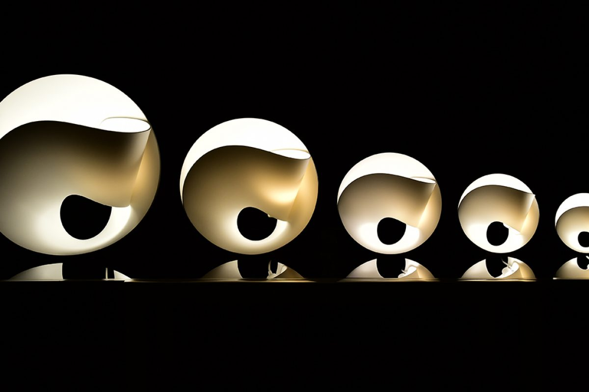 Pierre Cabrera designed the Tulip lamp made with HI-MACS®. A graceful, fine and timeless flower of light