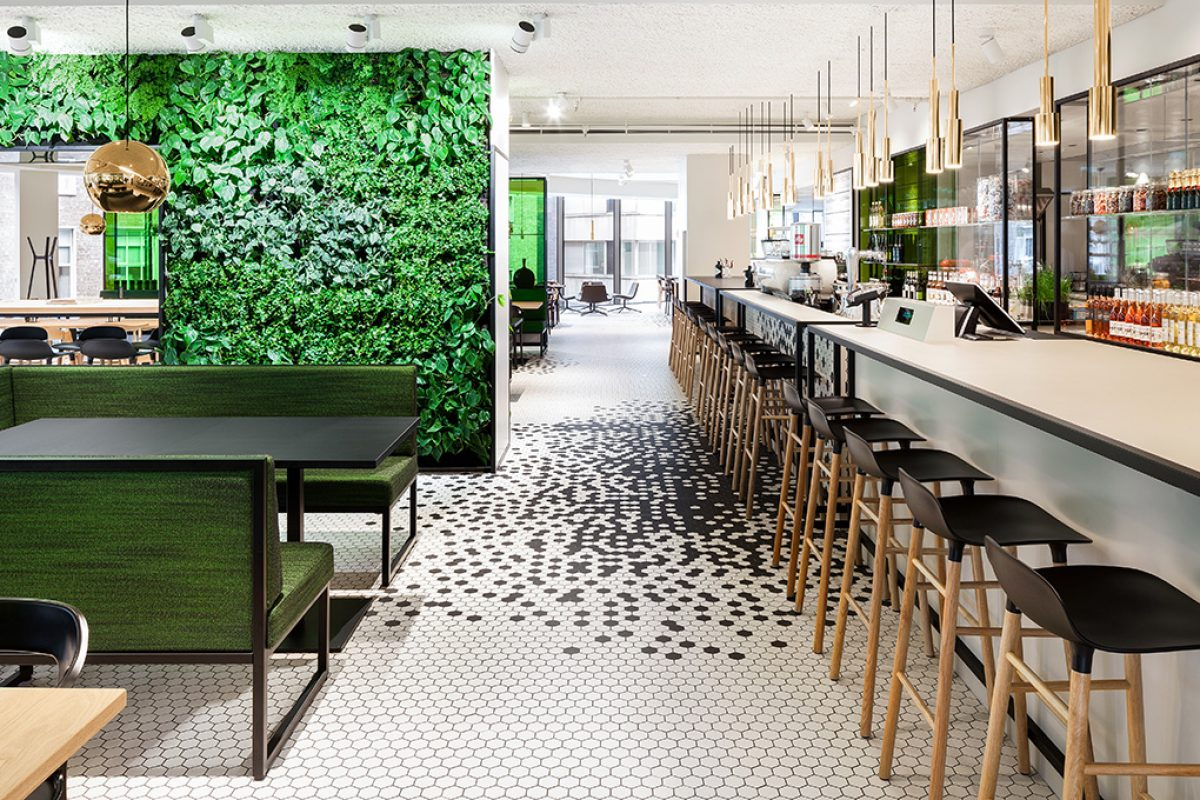 De Bijenkorf Utrecht Restaurant by i29 interior architects. Endless dining options, endless seating options
