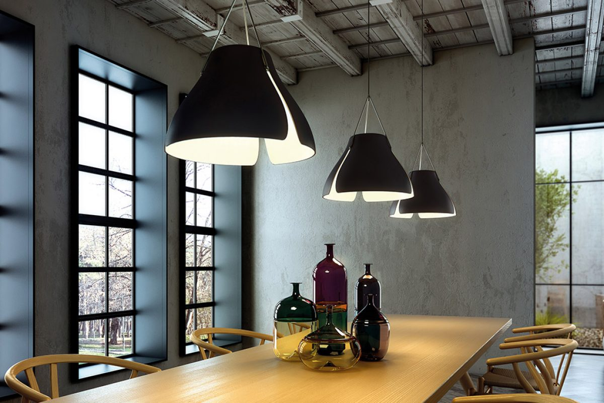 Tim Brauns designed for B. Lux a collection of suspension lamps inspired by the Ginkgo tree