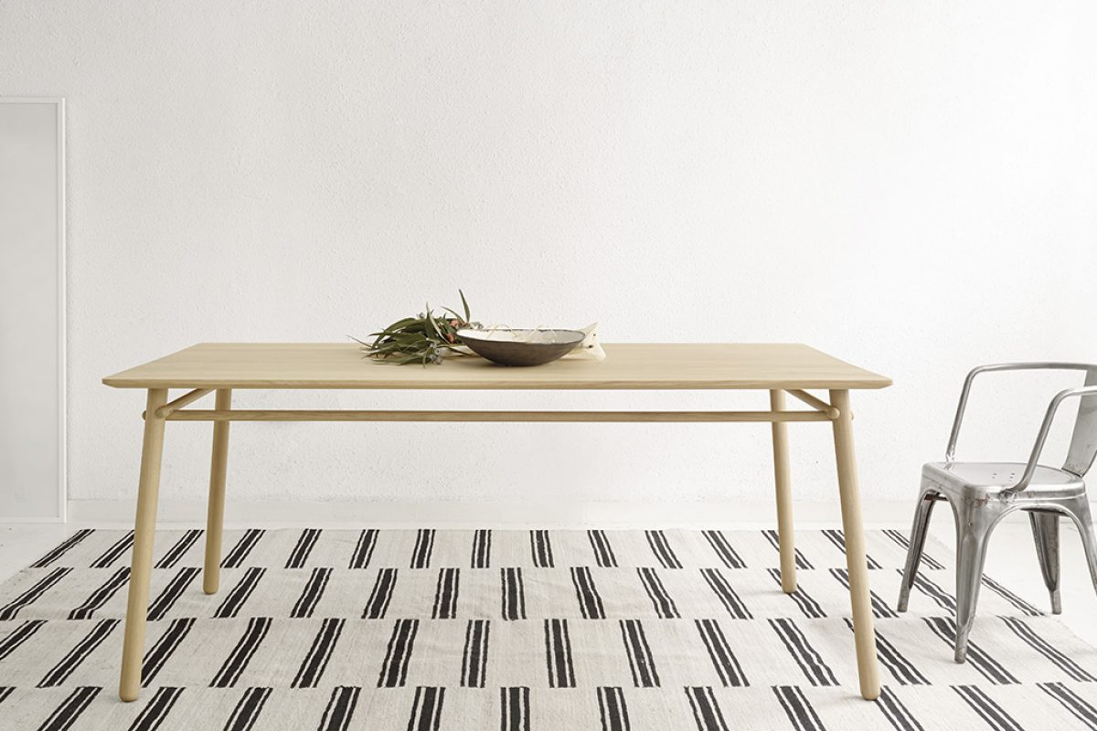 Silvia Ceñal designed Basoa for Treku. An original and timeless table