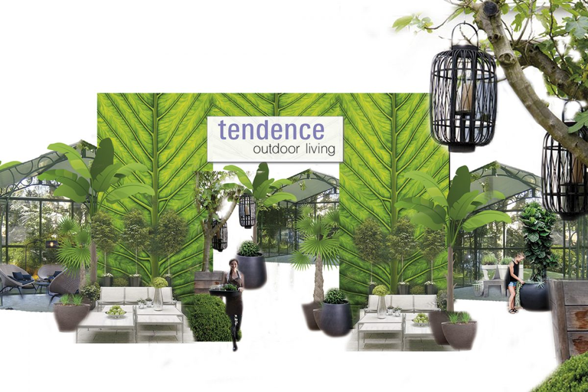 Tendence 2017 banks on the latest outdoor trends with real plants and outdoor furnishings