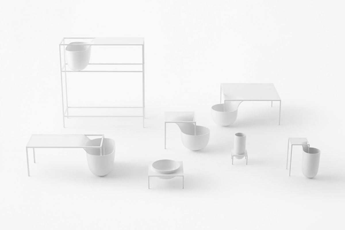 "Furniture collection ""flow"" and sofa system ""okome"" by nendo for Alias"
