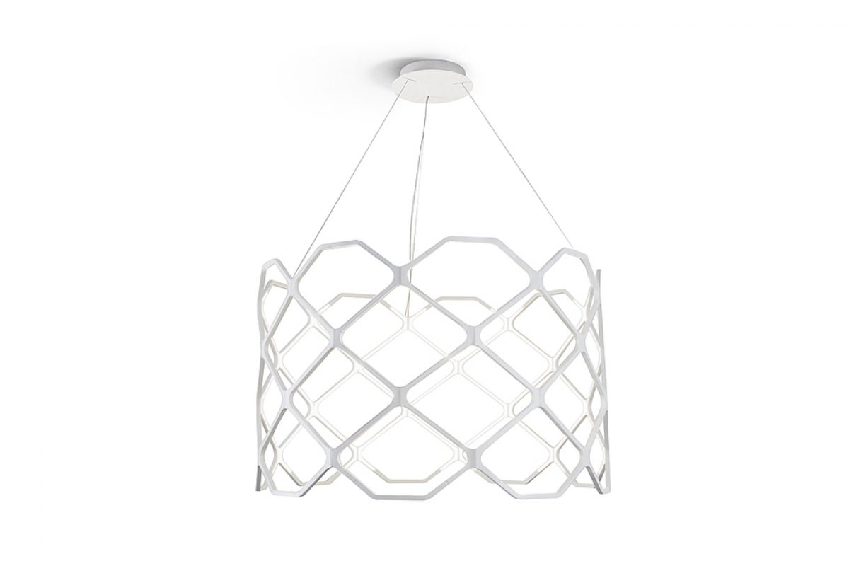 Titia lamp by Arihiro Miyake for NEMO. A suspended swirl of light