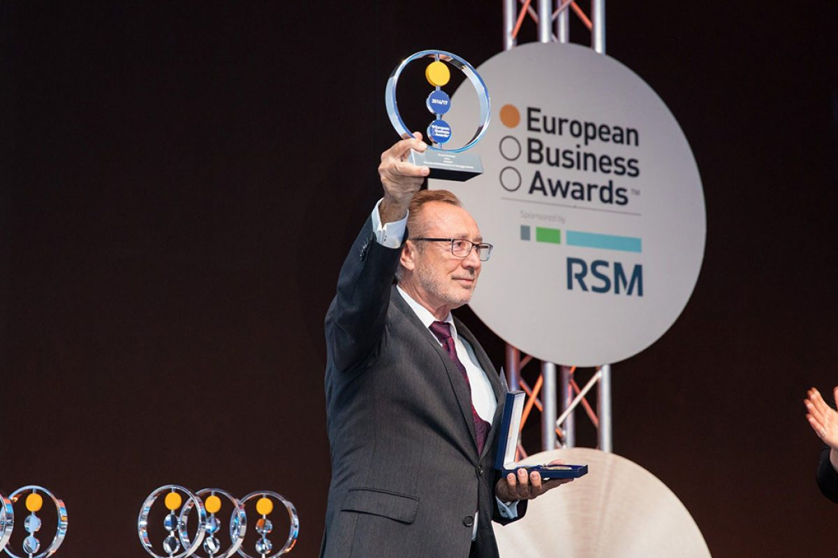 Vicente Berbegal, President and founder of Actiu, wins the European Entrepreneur of the Year Award