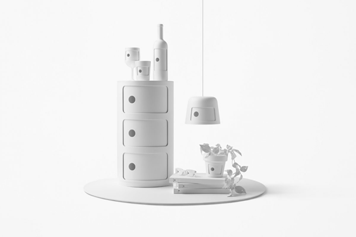 Nendo's homage to the 50th anniversary of the Componibili series by Kartell