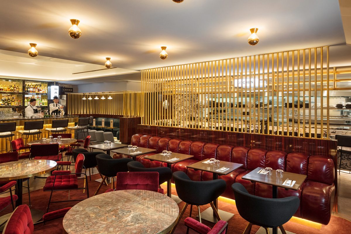 Tom Dixon' aesthetic for the new Le Drugstore brasserie in Paris designed by Design Research Studio