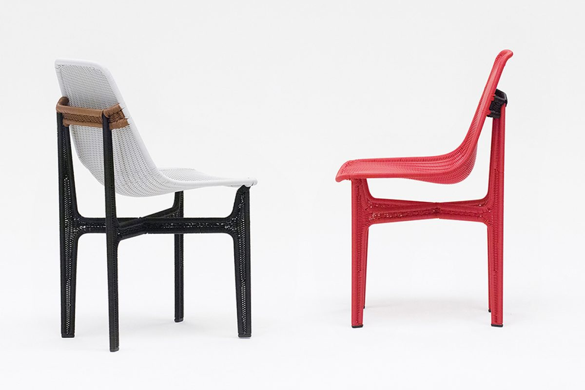 New color synthetic rattan combinations at Relation chair by Omi Tahara for Yamakawa