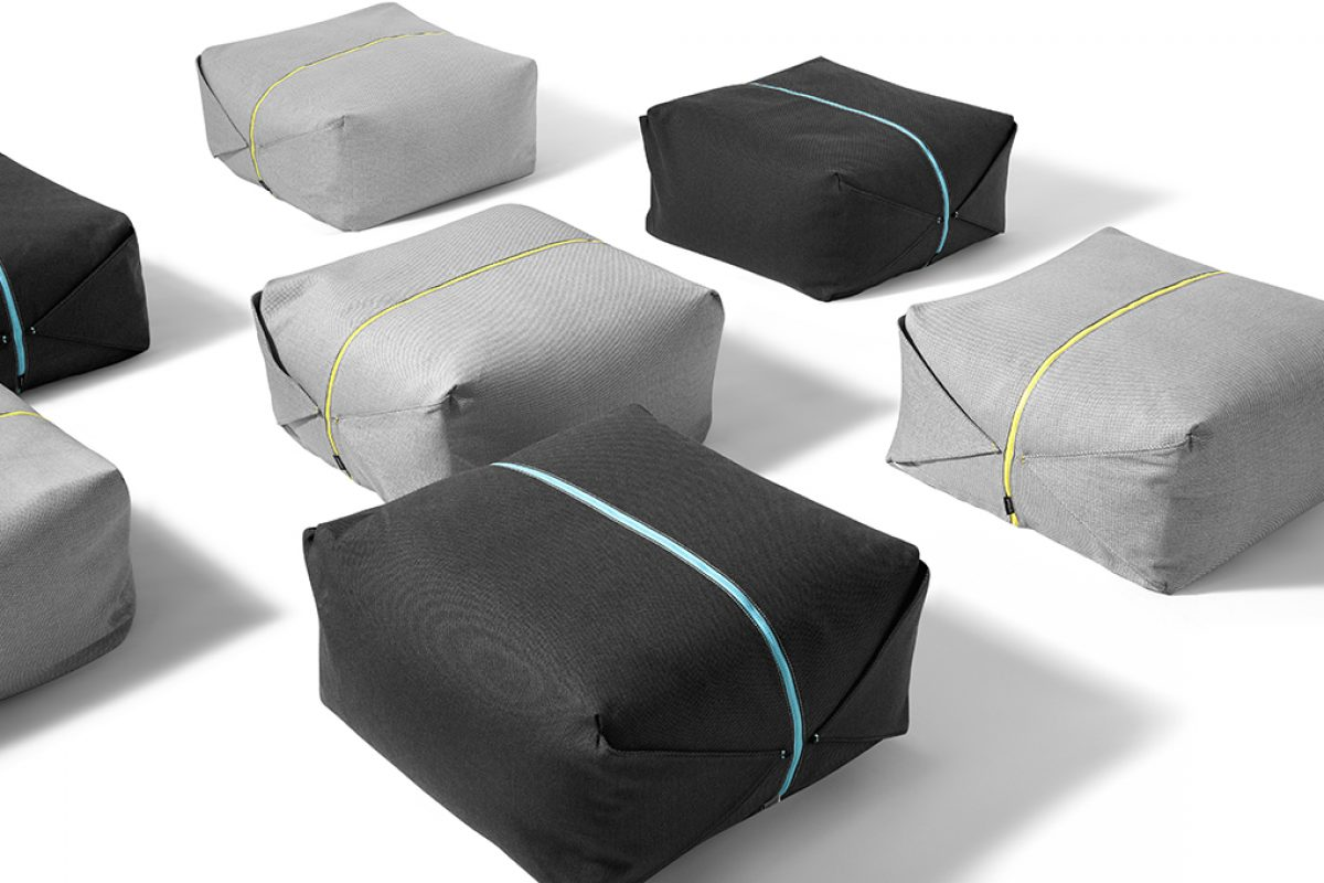 Ori, the pouf designed by Yonoh for Chinese startup ZaoZuo inspired by origami