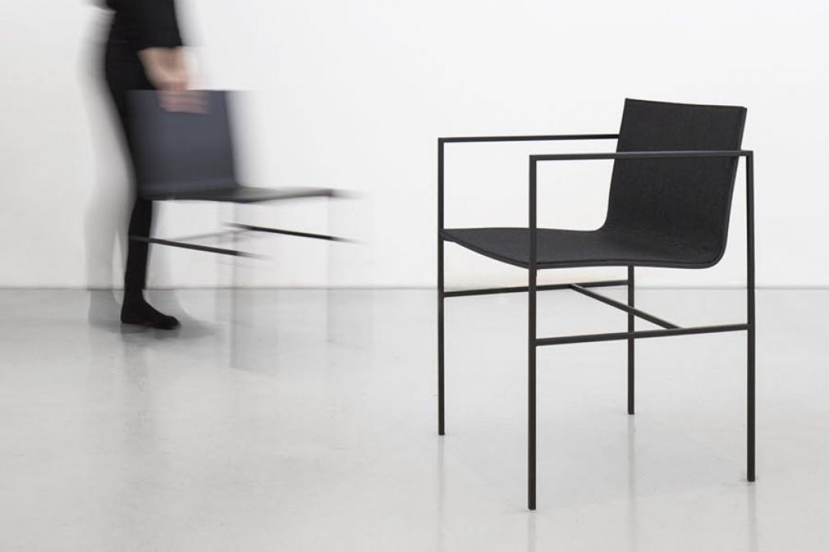 New A Chair by Fran Silvestre Arquitectos for Capdell. The relation between two elements, metal & wood