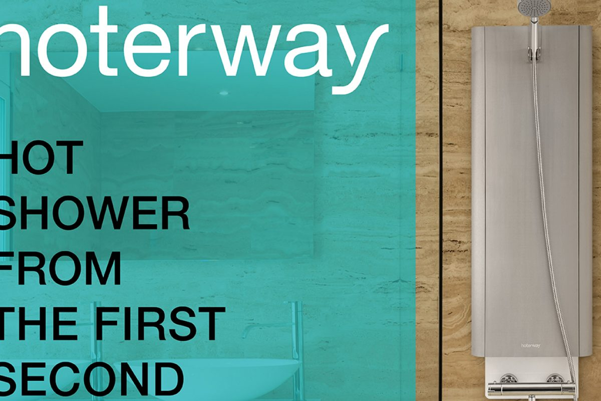 Save liters of water in the shower and get it hot in a second with Hoterway, the latest from Heaboo