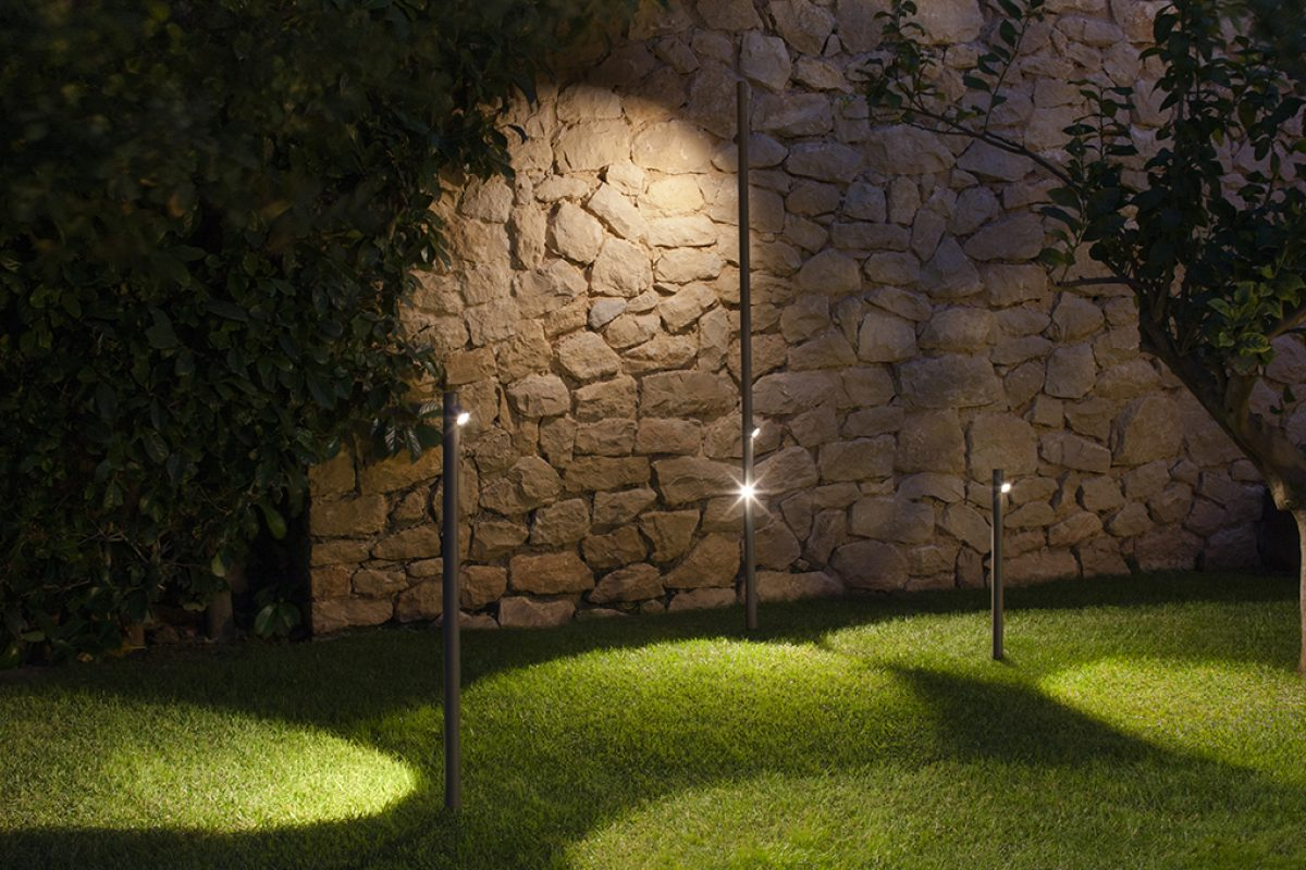 Landscape integration, the outdoor lighting by Vibia that integrates naturally with outdoor spaces