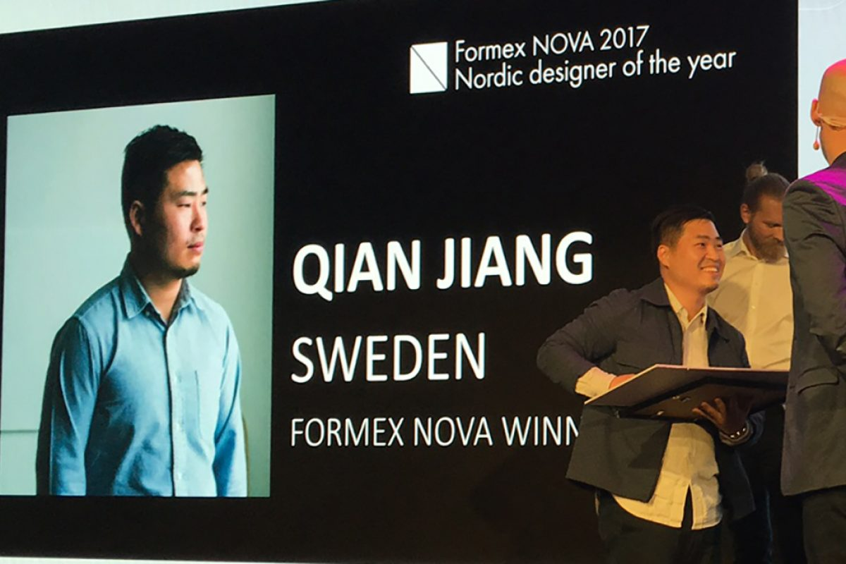 Qian Jiang wins Formex Nova 2017 Design Award as Nordic Designer of the Year