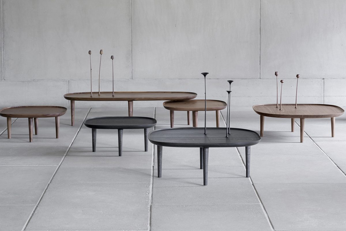 Fiori, the table from which flowers sprout, embodies the Finnish design of Poiat Studio