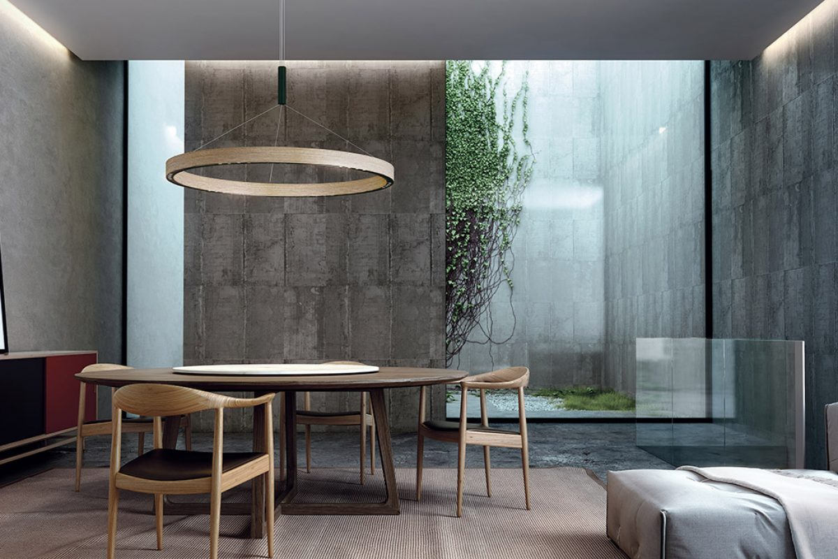 B.lux updates the chandelier concept with its R2 lamps by David Abad