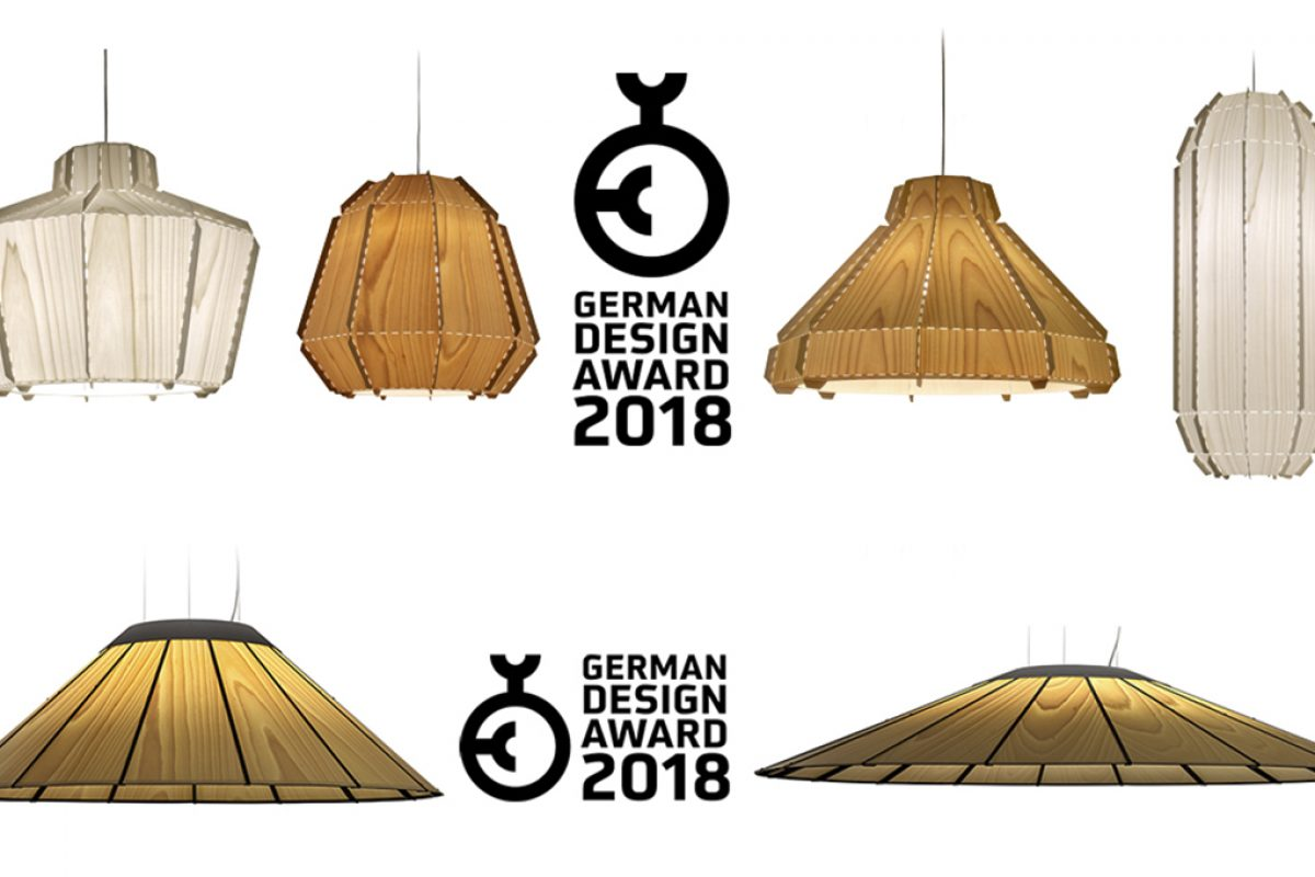 Banga and Stitches collections of LZF Lamps, winners of German Design Awards 2018