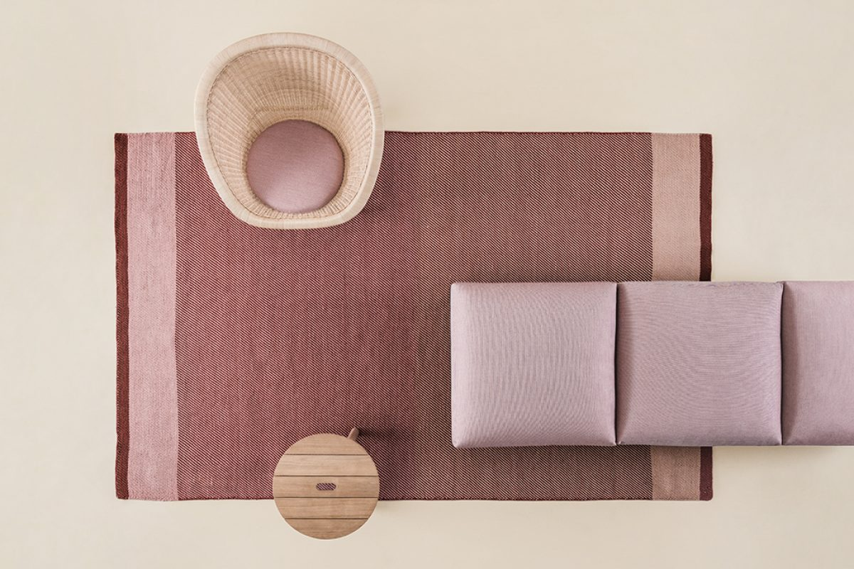 Geometrics Fabrics, the outdoor rugs designed by Doshi Levien for Kettal