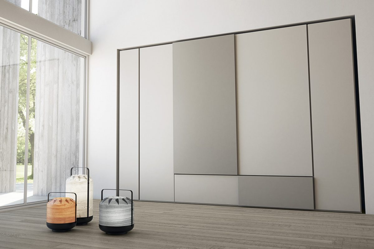 Grafik, the versatile wardrobe by Caccaro not just for the night area