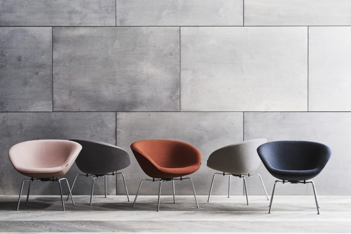 Fritz Hansen resurrected the iconic Pot Chair, designed by Arne Jacobsen in 1960