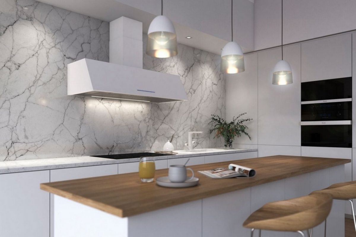 Embellish your kitchen with P-2010, the versatile kitchen hood designed by PANDO