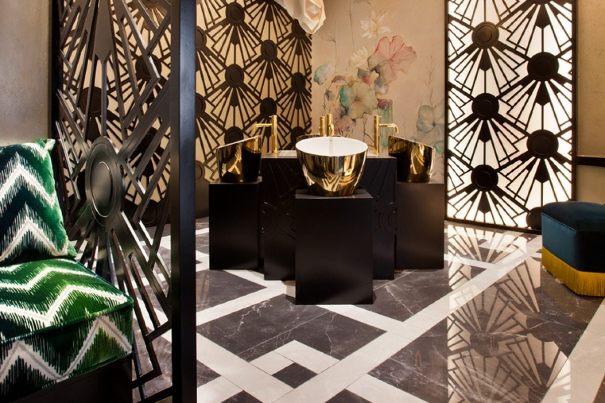 Viteri/Lapeña is present again at Casa Decor Madrid with their Manhattan bathroom, an intimate and elegant Art Deco design