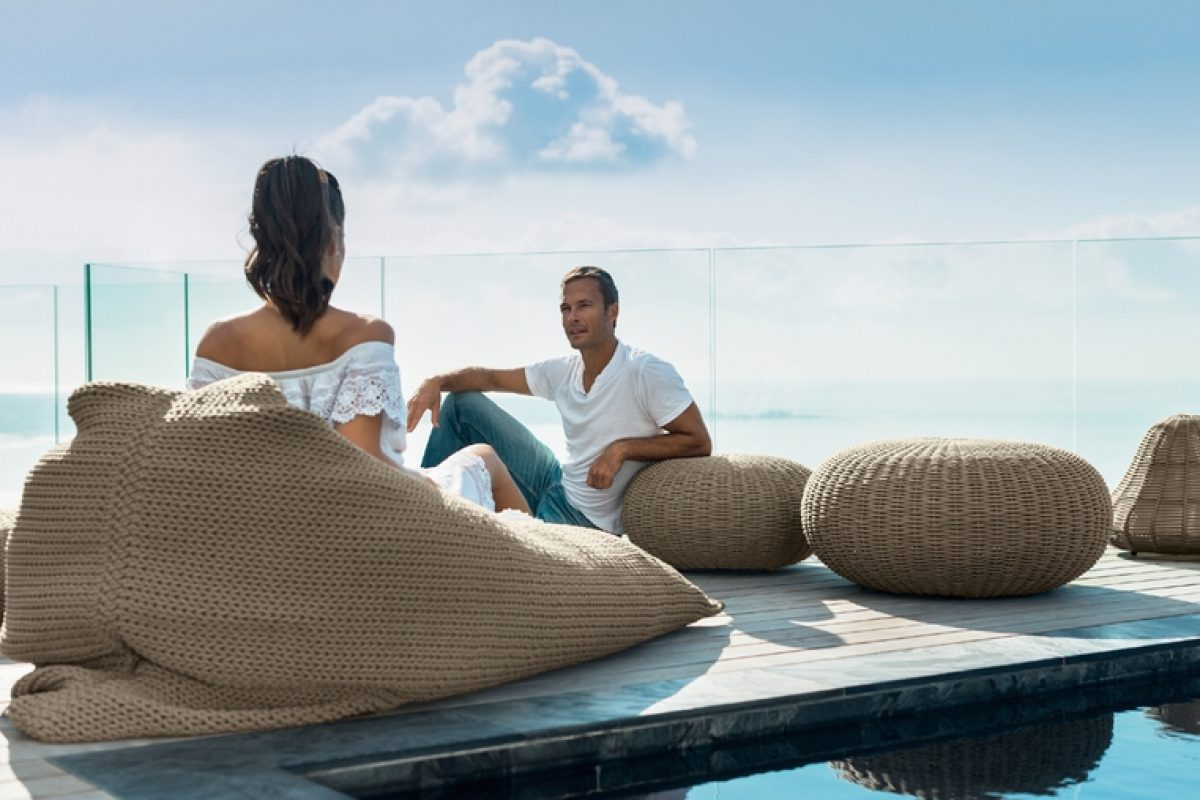 Talenti erases boundaries between indoor and outdoor furniture with the Jackie collection