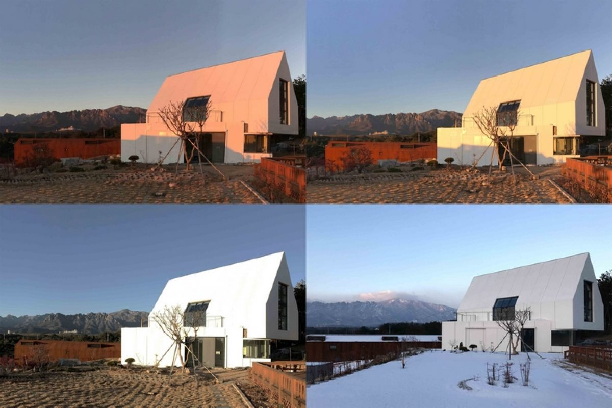 Woojin Lim develops a house with HI-MACS® that camouflages itself in the snow. Reminiscences of the traditional snow-capped shelters of the Alps