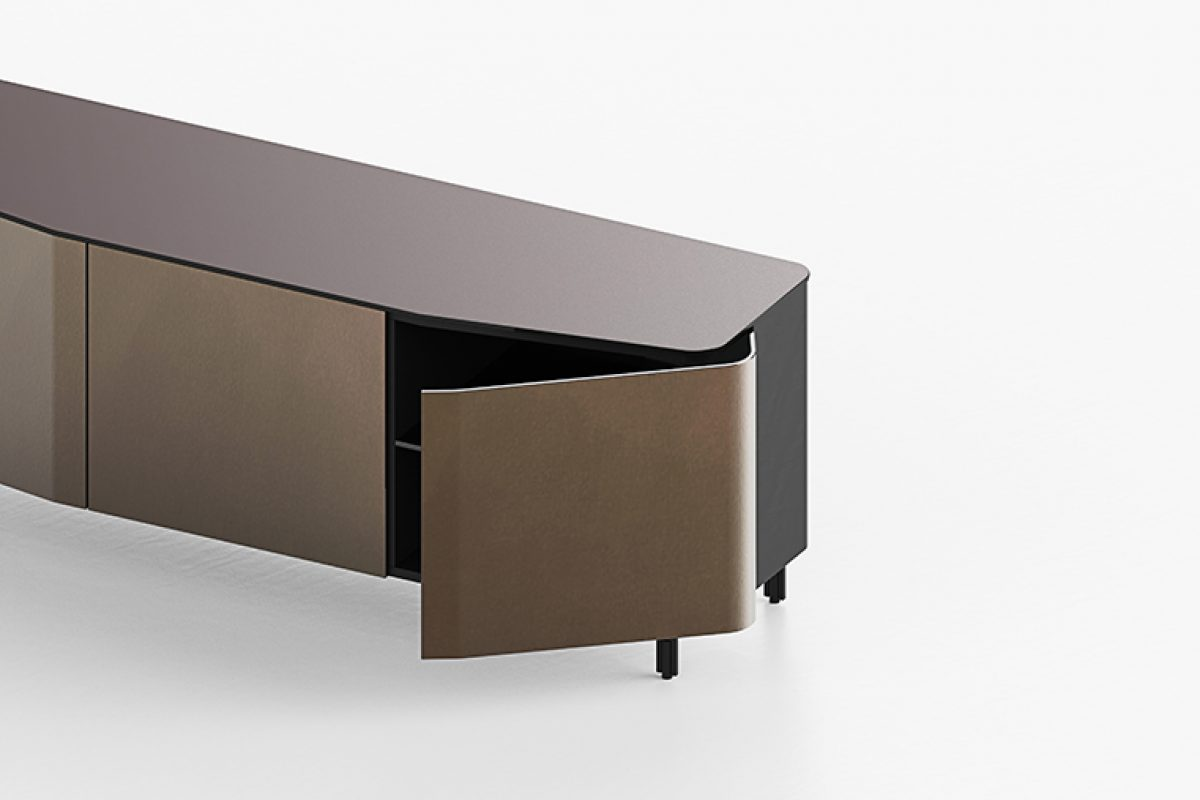 Seen at the #SaloneDelMobile.Milano 2018: Plana sideboard designed by Studio Klass for FIAM