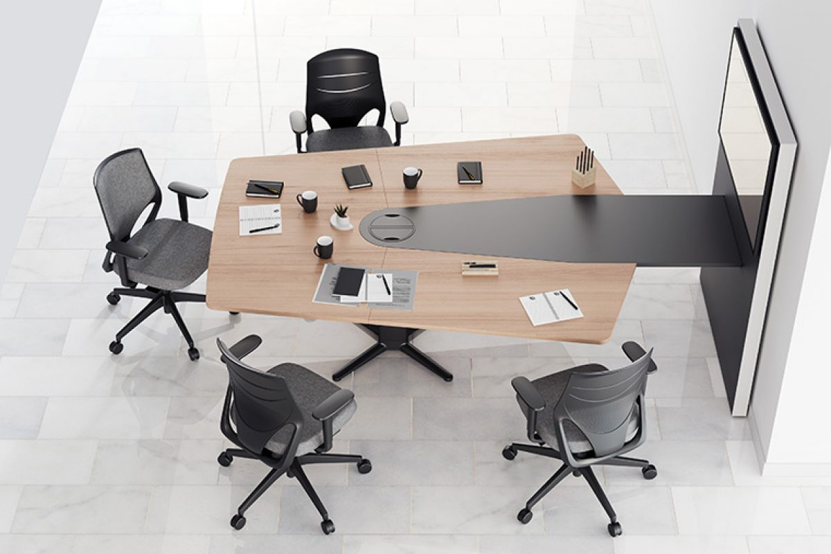 How do you prefer to work, sitting or standing? Actiu creates Power, the table that combines comfort and technology for healthier work