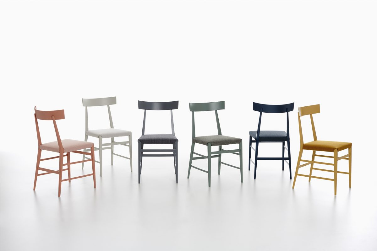 Noli chair by Ludovica + Roberto Palomba for Zanotta. Inspired by the Ligurian model of craftsmanship