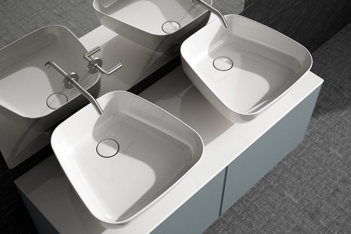 The Expo Collection by Antonio Bullo elevates water. A different kind of basin for the bathing ritual