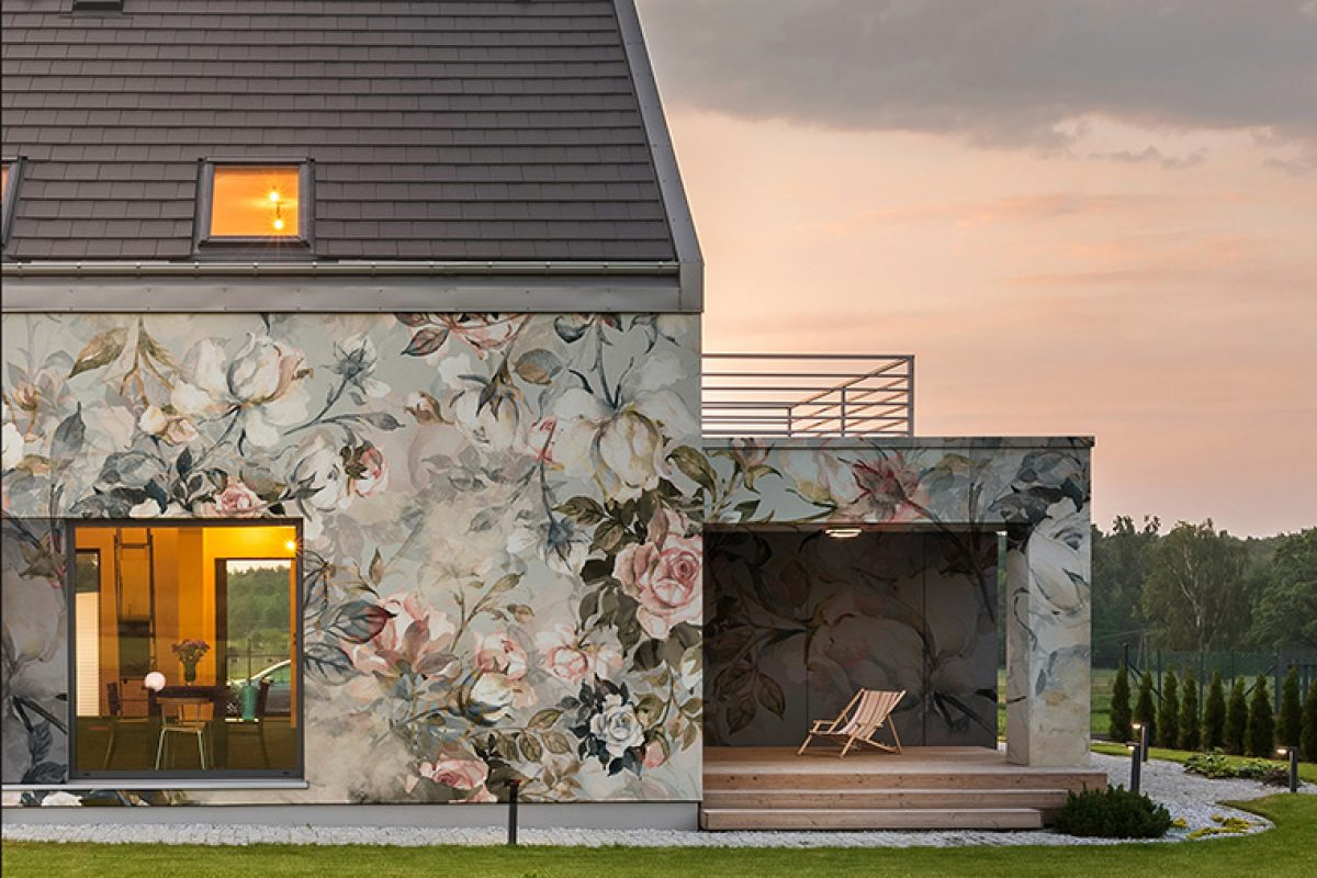 Wallcovering for exteriors. Instabilelab amazes from the outside