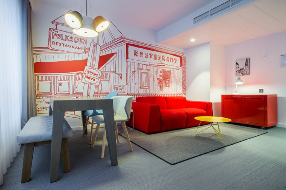 Milano Bedding for the contemporary hotel suite at appealing Radisson Red in Brussels