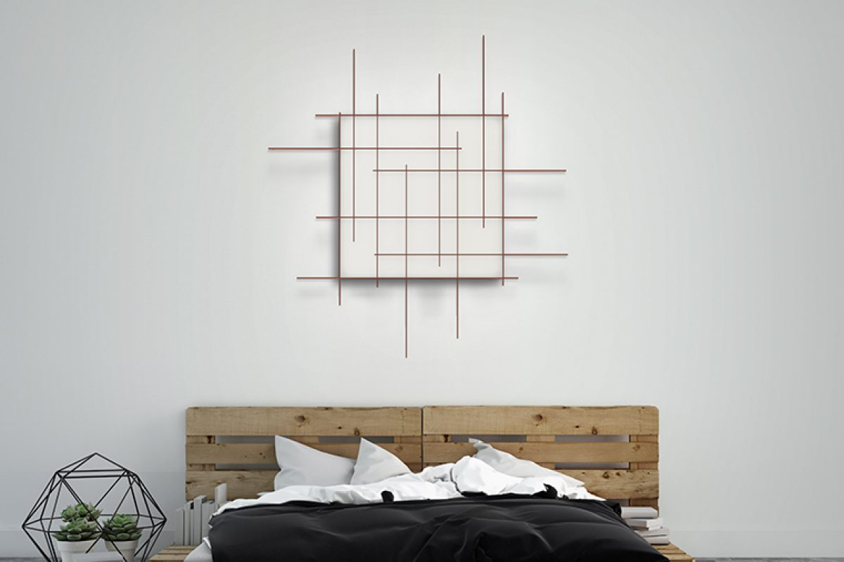 Mondrian lamp by Carlos Álvarez for Metalarte, the happy meet between art and lighting technology