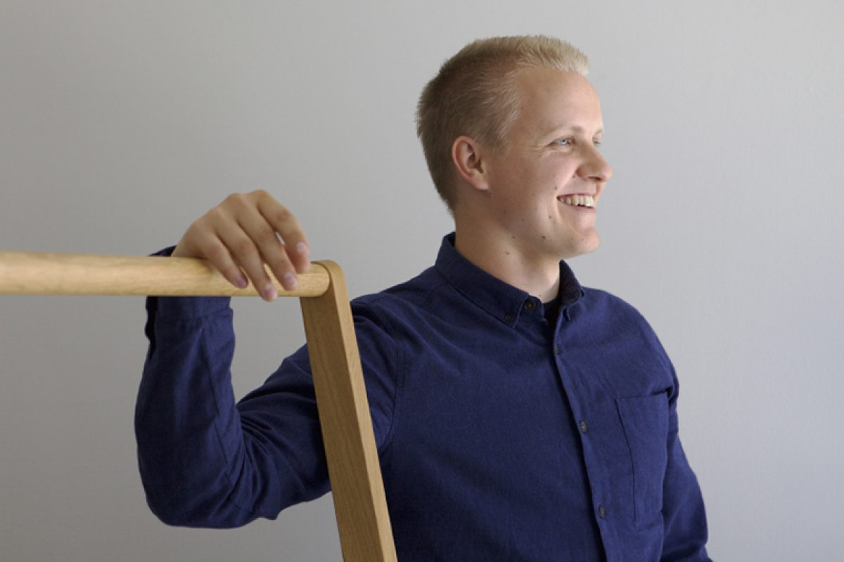 Design Forum Finland awards Antrei Hartikainen as Young Designer of the Year 2018 in Finland