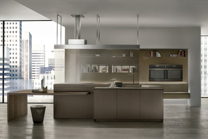 Ernestomeda presents the IconColor kitchen, clean and flexible aesthetics