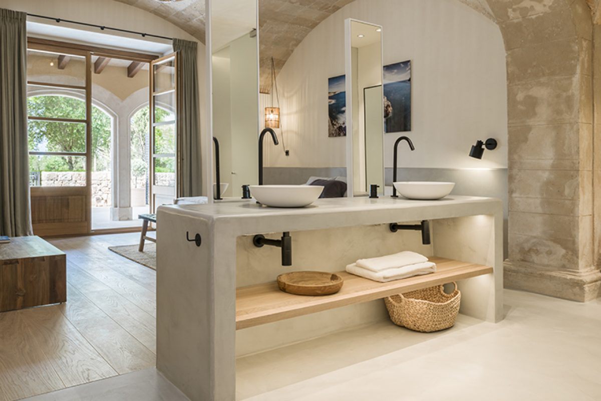 Jorge Bibiloni Studio chooses Ritmonio taps for the bathrooms of Son Julia Country House & SPA in Mallorca