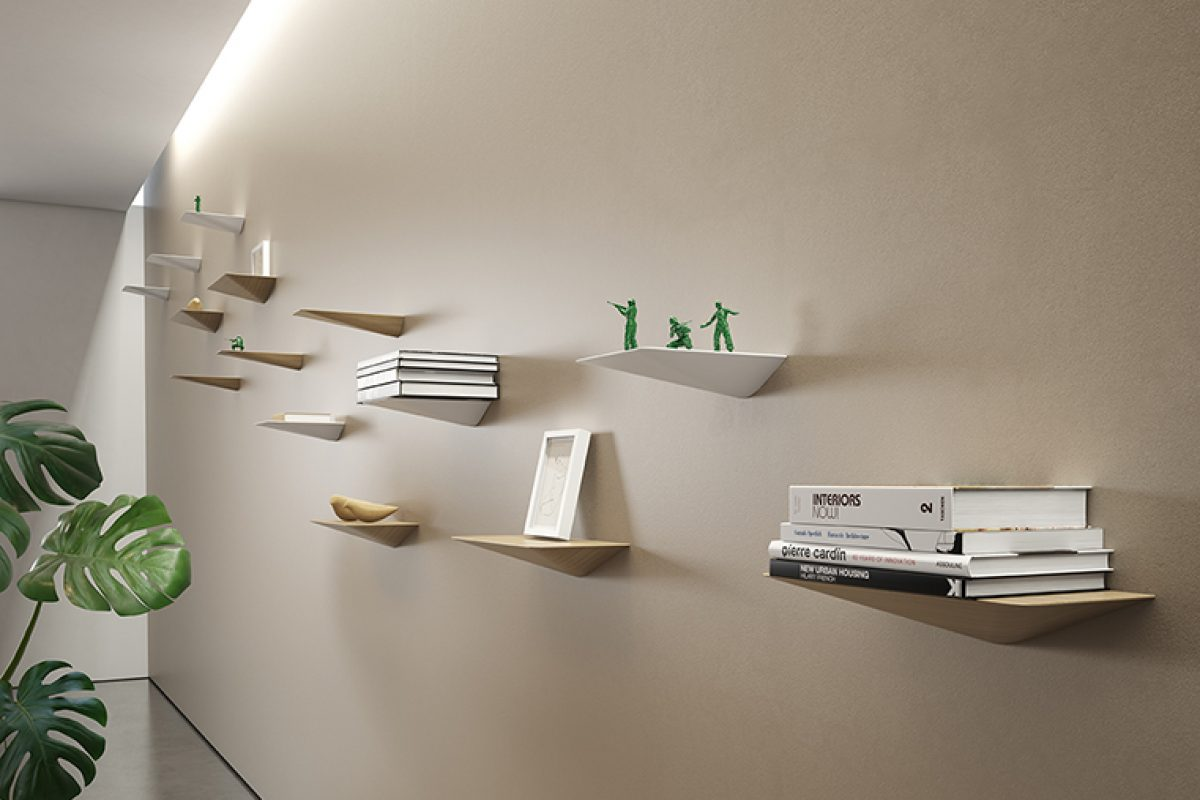 Victor Carrasco is inspired by the shape of the boats' keel to design the new shelves for Viccarbe
