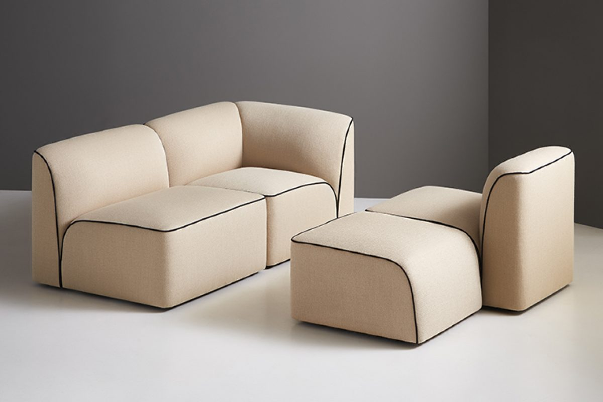 Flora, the new modular sofa designed by Yonoh for Woud