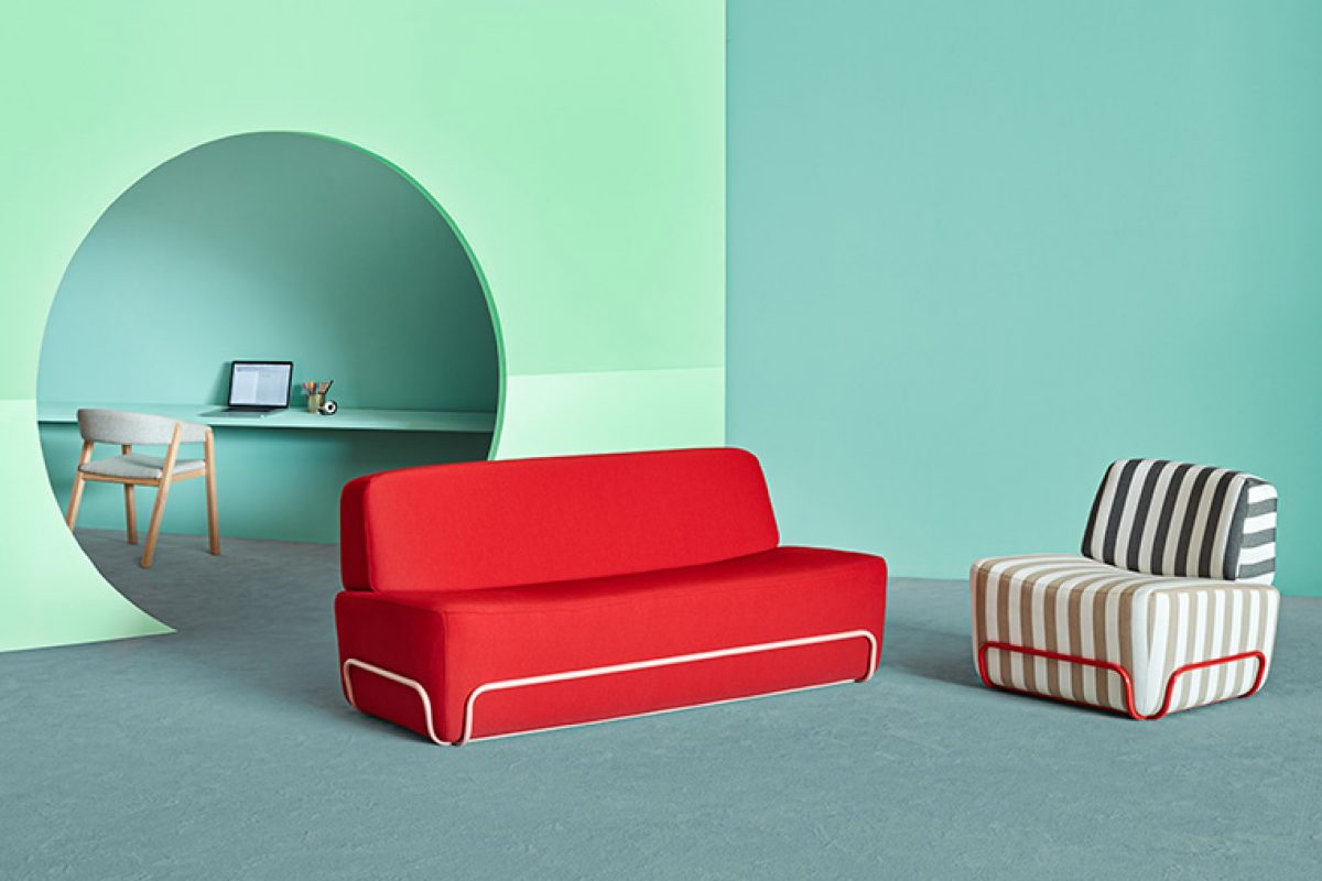 Pigro, the collection by Pastina for Missana, allows you to create multiple combinations with its metal frame and bold volumes