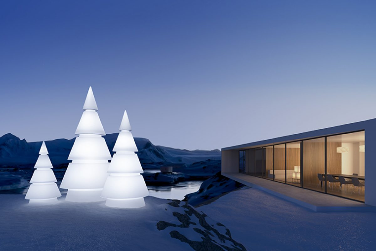 Ramón Esteve designed Forest for Vondom, the architectural vision of the traditional Christmas tree