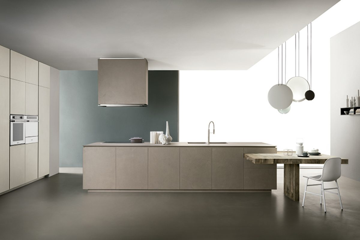 Obliqua by Ernestomeda, the kitchen that combines simple forms, patterns and materials