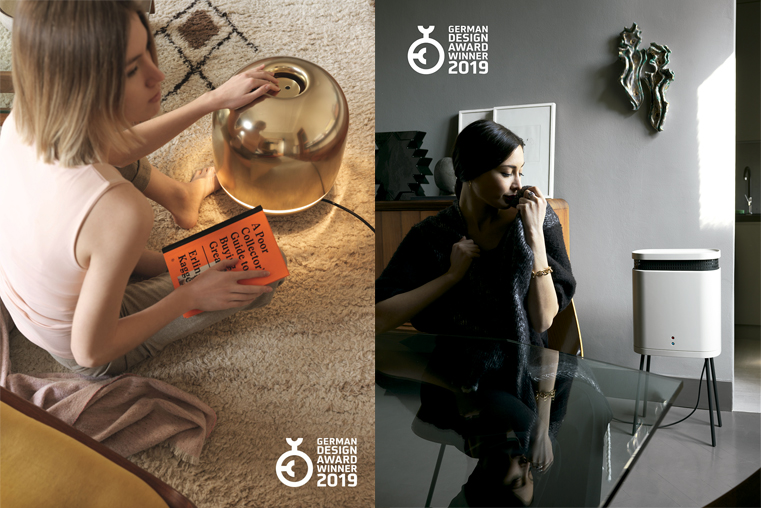 The new inspirational portable heaters. Eve and Astro by Tubes, awarded at the German Design Award 2019